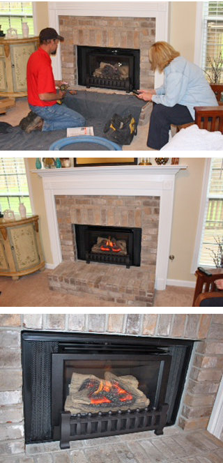 atlanta fireplace insert installation