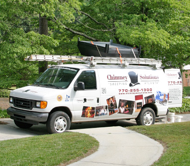 Marietta GA chimney truck repairs chimney crown and fix chimney leaks